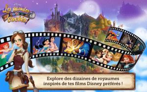 Sortie de Disney : les mondes cachés sur Android, iphone , ipad et facebook