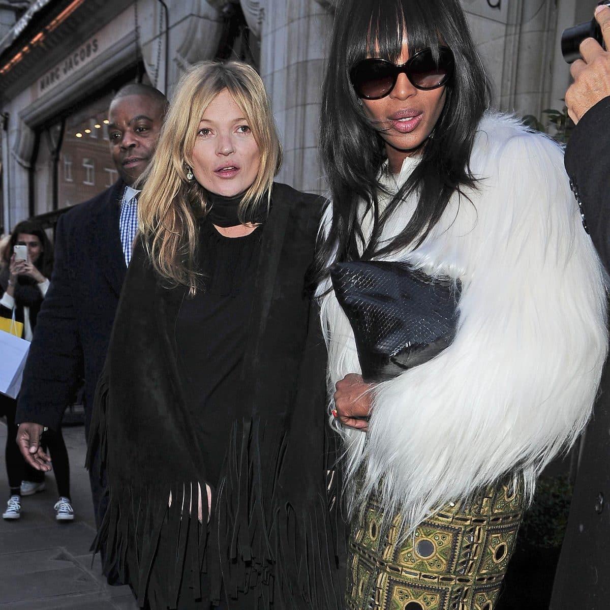 Les dessous de la soirée très arrosée de Kate Moss avec Naomi Campbell !